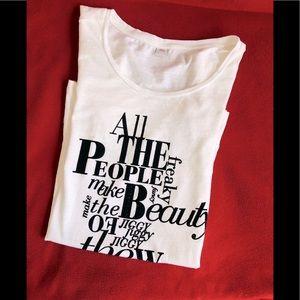 Rare!⭐️ s.Oliver European White T-Shirt